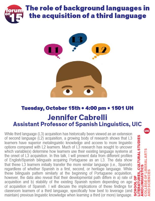 flyer for Cabrelli talk