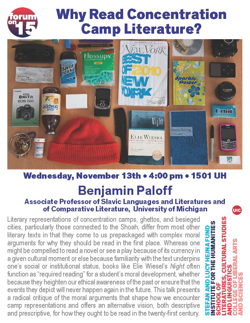 flyer for Paloff talk
