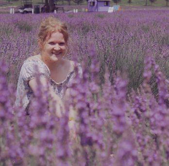 Grace in a field of lavender blooms